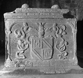 Chest tomb - end panel